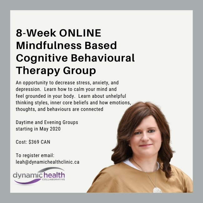 Mindfulness Based Cognitive Behavioural Therapy Group (ONLINE)